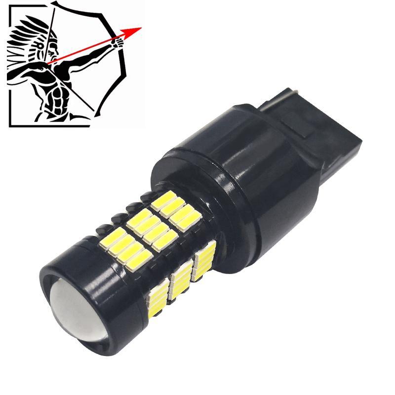 2 шт. T20 1157 1156 54smd led 4014 canbus led ba15s p21w автомобильный сигнал поворота стоп-сигнал