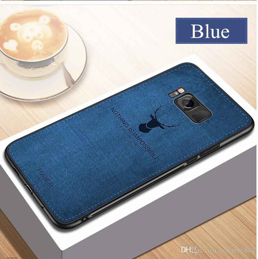 deer cloth texture phone case on for samsung galaxy A30 A50 M10 M20 a7 2018 retro tpu hard back cover coque fundas