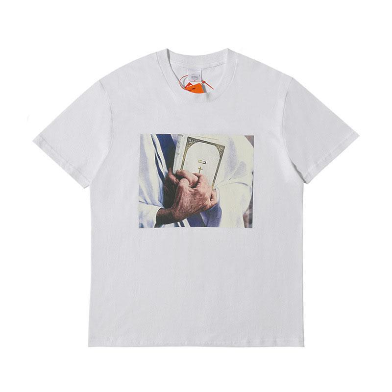 20SS Designer Bible Print T Shirts for Mens Brand Clothing Brand T Shirts Summer Fashion Bible Print Tee Casual Men Shirt S-XL GL2002261