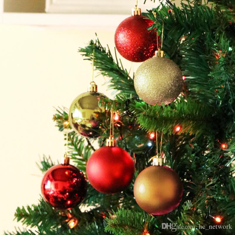 24PCS / الكثير 30mm وعيد الميلاد الكرة الحلي شجرة عيد الميلاد الديكور الكرة الحلي عيد الميلاد حزب الشنق الكرة زخرفة لعيد الميلاد