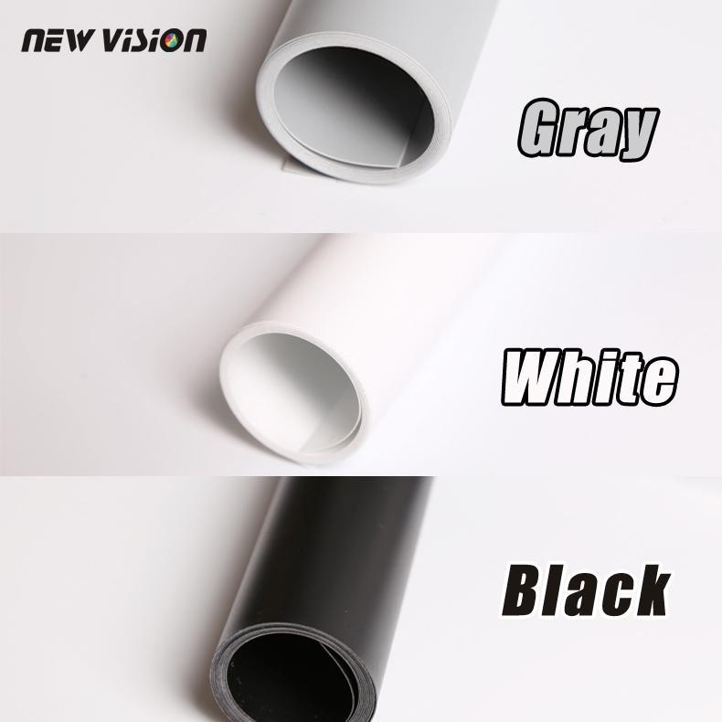 Freeshipping 블랙 그레이 화이트 PVC 사진 사진 스튜디오 조명 배경 천을 68cm * 130cm 색상의 세 종류