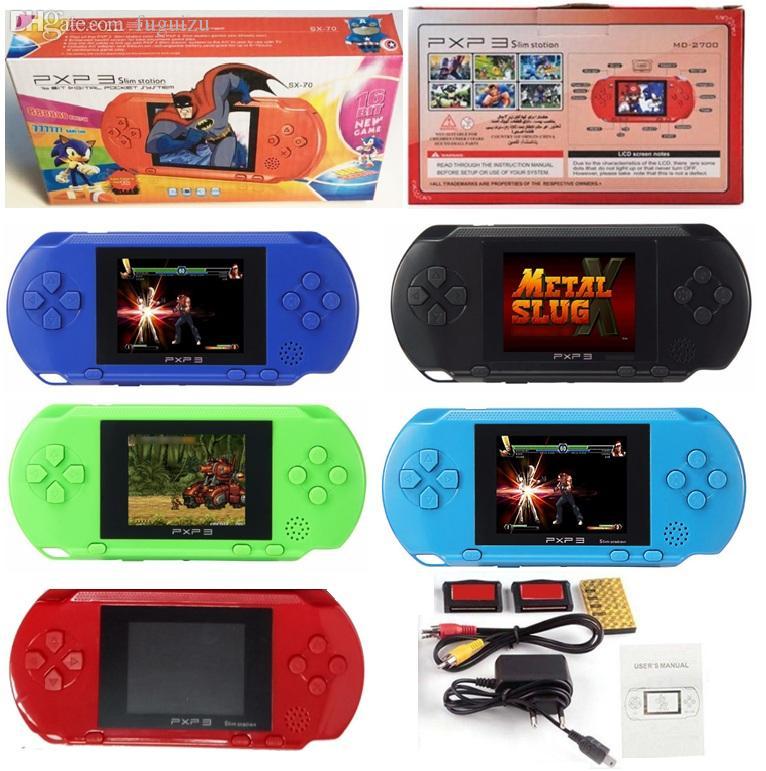 """2.7"""" Screen PXP3 Handheld TV Videospielkonsole 16 Bit Klassischen tragbaren PXP3 Schlank-Station Pocket-Game-Spieler mit Kleinpaket"""
