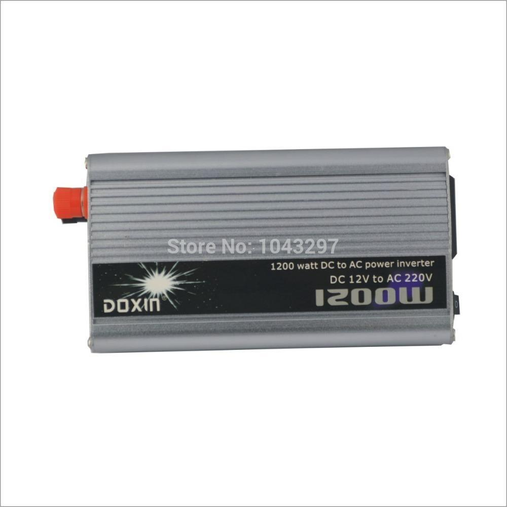 Freeshipping 1200 WATT Modified Sine Wave Car Boat 12V DC In 220V AC Out Power Inverter