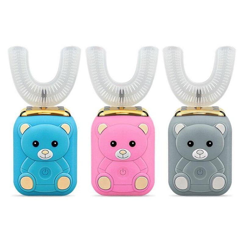 Nuovo Relish 306 bambini Ferro di cavallo Spazzolino elettrico Auto Disinfezione Timer ultra sonico Silicon wireless elettrico ricaricabile spazzolino da denti