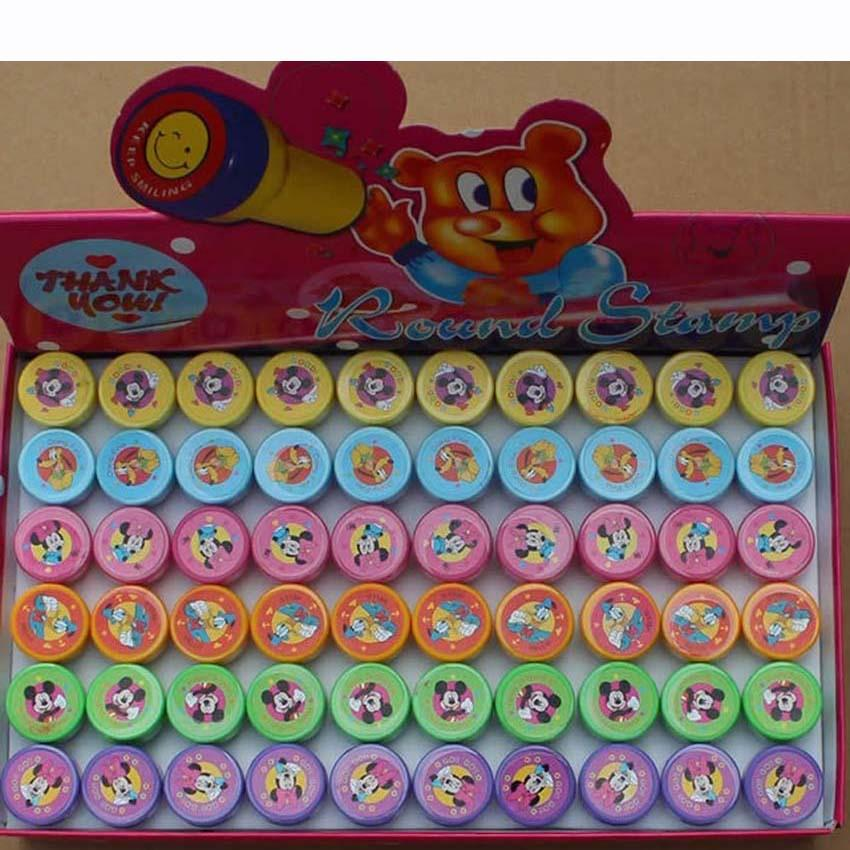 30/60PCS Self-ink Stamps Kids Party Favors Event Supplies for Birthday Party Toys Boy Girl Goody Bag Pinata Fillers
