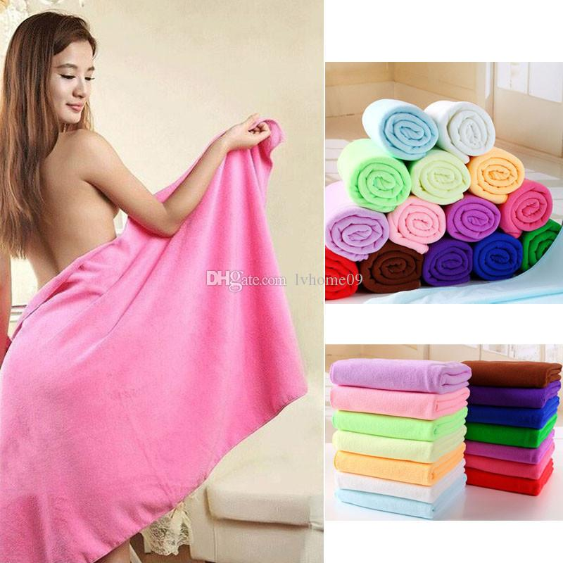 70x140cm Bath Towel Fiber Microfibre Blankets Sechage Rapide Douche Beach blanket Douce Super Absorbant Home Textile Large Thick Towels