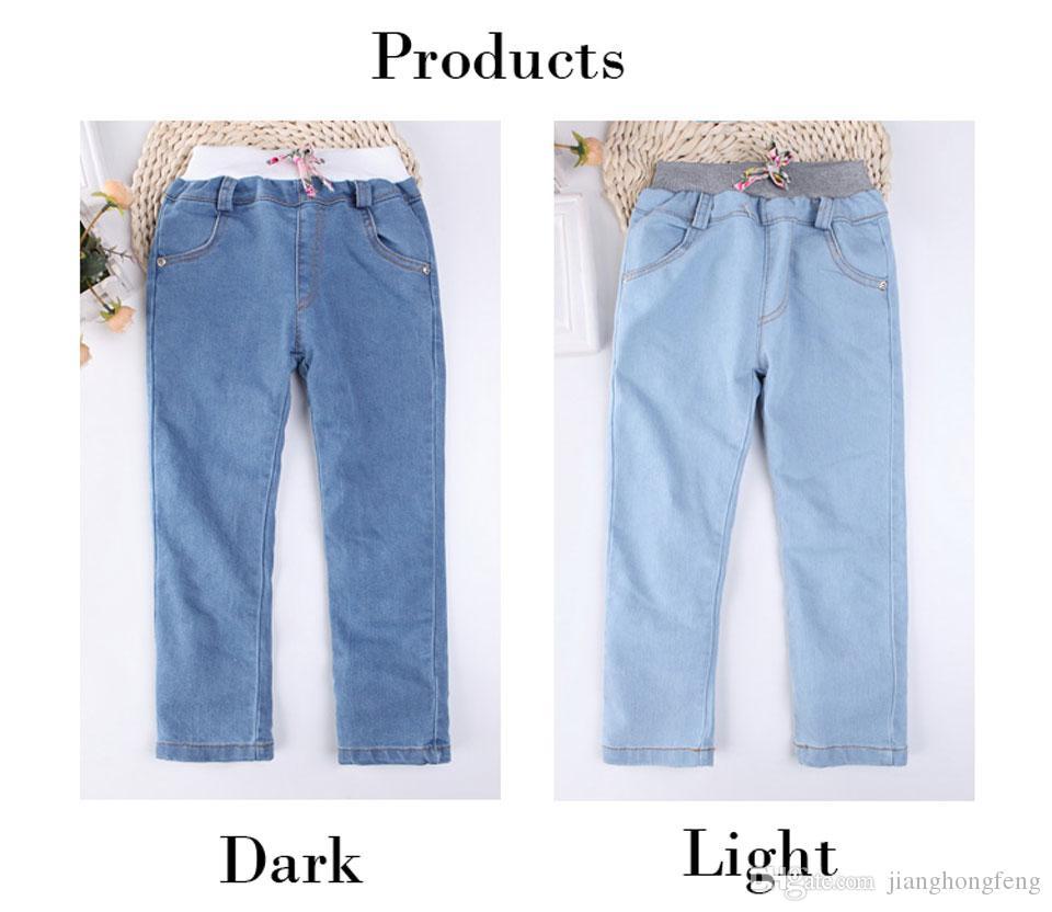 Mädchen-Gamaschen Neue 2019 Herbst-Kind-Jeans 2 Farben-Mädchen-elastische dünne Kinder-Bleistift-Hosen für 2 bis 7 Jahre Hose