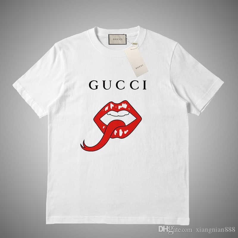 GUCCI Designe t-shirt magliette marchio di lusso della lettera di modo selvatici estate la stampa di vendita del cotone di marca tendenza di moda traspirante maglietta # 5618