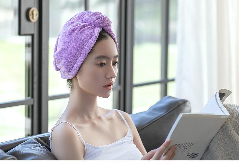 Toalha do cabelo de microfibra Turbante Enrole 4 Pack Secagem Rápida Anti Frizz macio e absorvente Cabeça de chuveiro toalha, Quick secador de Cap Hat, Banhos Envolvido