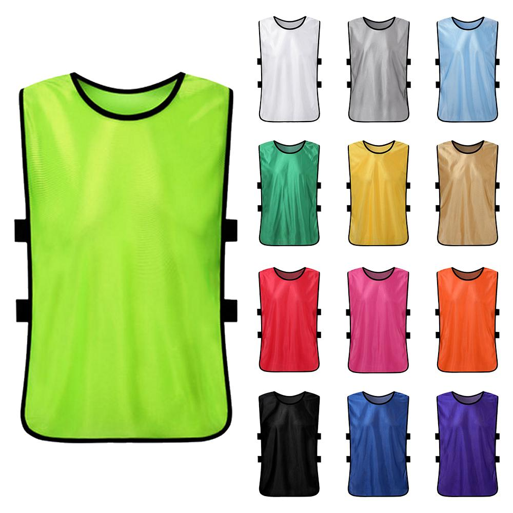 12 PCS Kid's Soccer Pinnies Quick Drying Football Jerseys Youth Sports Scrimmage Practice Sports Vest Team Training Bibs