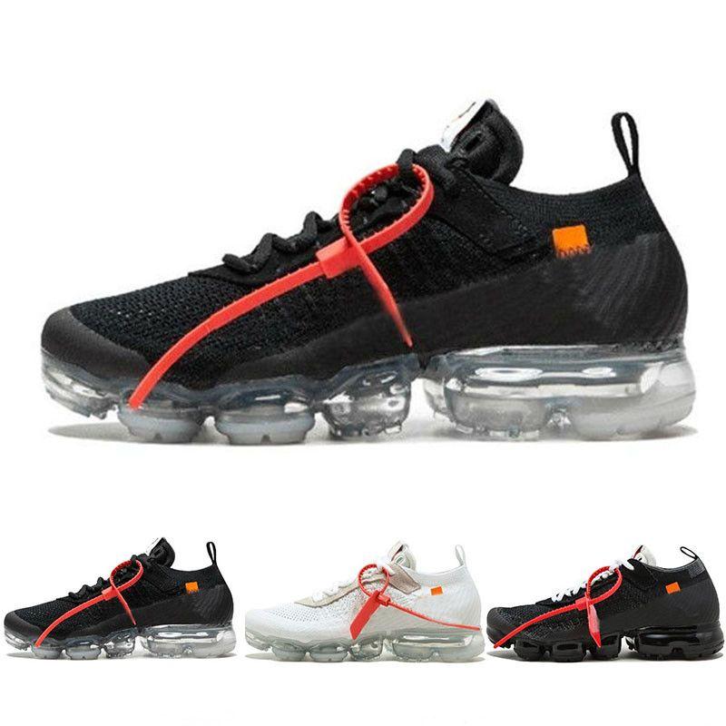 Nike Air VaporMax FK off Vapor VPM Fly 2.0 kinit Running Shoes Black White Homens Mulheres respirável FK Baixa Camping Calçado caminhada Sneaker US5.5-11 PP03
