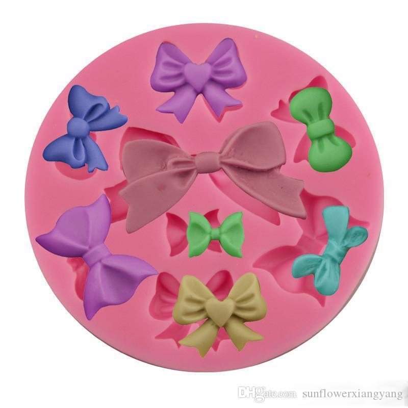 DIY Bow Tie Silicone Moule Noeud papillon Forme Silicone Moule Bowknot Gâteau Fondant Cuisson Outils Grade Alimentaire DIY Noeud Papillon Cuisine Accessoires