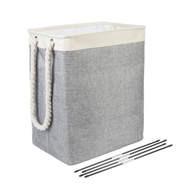 سلة تخزين الغسيل القابلة للطي بين قوسين قابلين للفصل