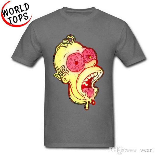 99ed1a290463e mens designer clothes brand polo Classic Cartoon T Shirts Cute Dope Donut  Bart Interesting Tshirts Printing Teenage Fashion Summer Tops Tees