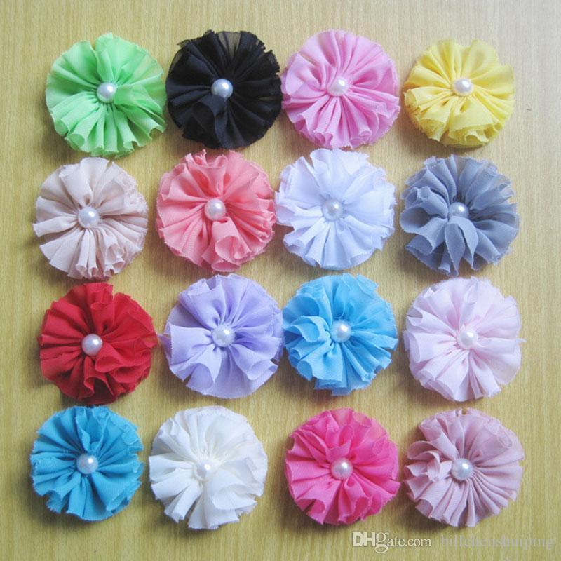 Neue Perle Blume DIY Bekleidungszubehör Für Baby Mädchen Stirnbänder Haarspangen Mädchen Corsage Blume Haarschmuck Freies verschiffen
