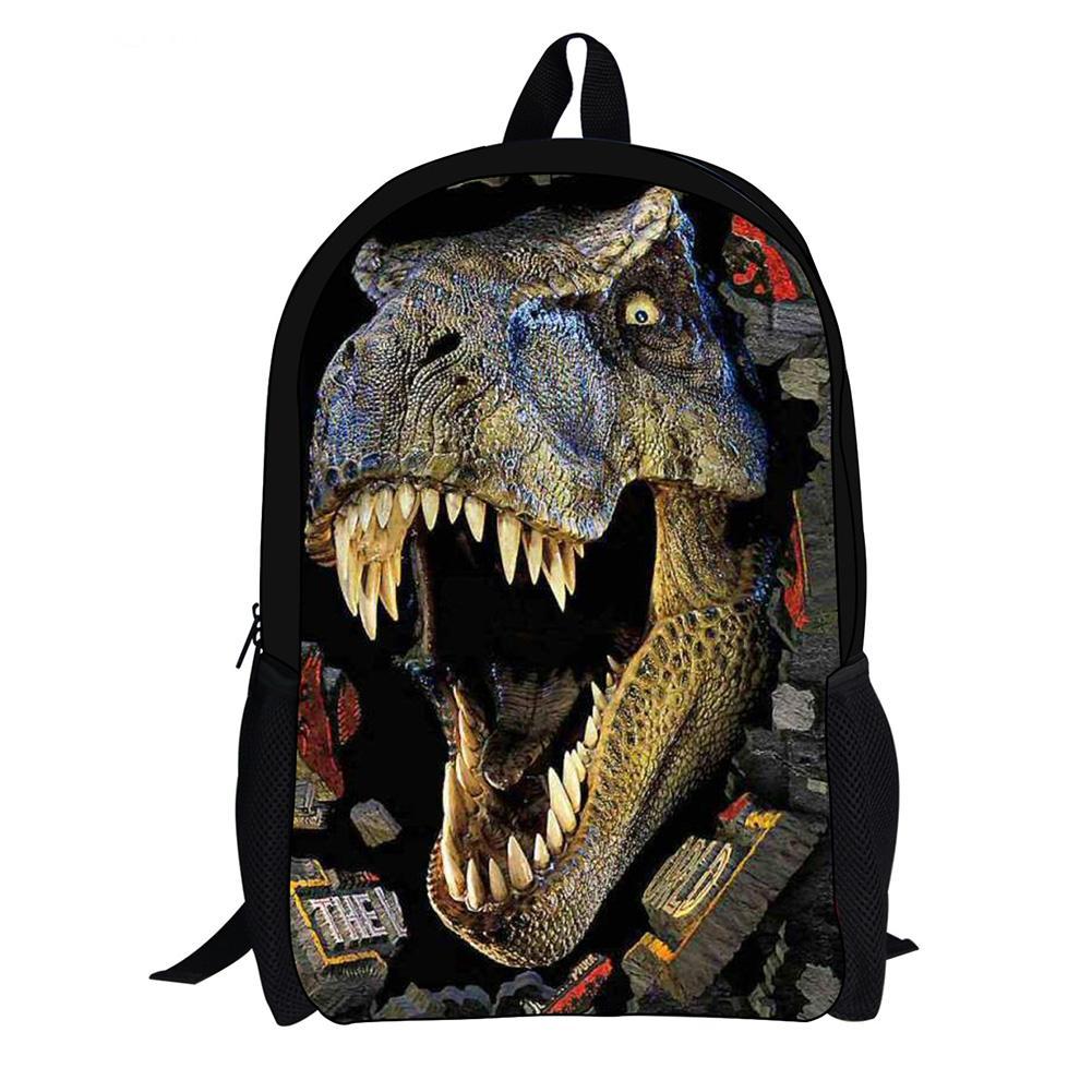 3D Zoo Dinosaur Childrens Backpack Kids Boys School Bag Large Rucksack Back Pack