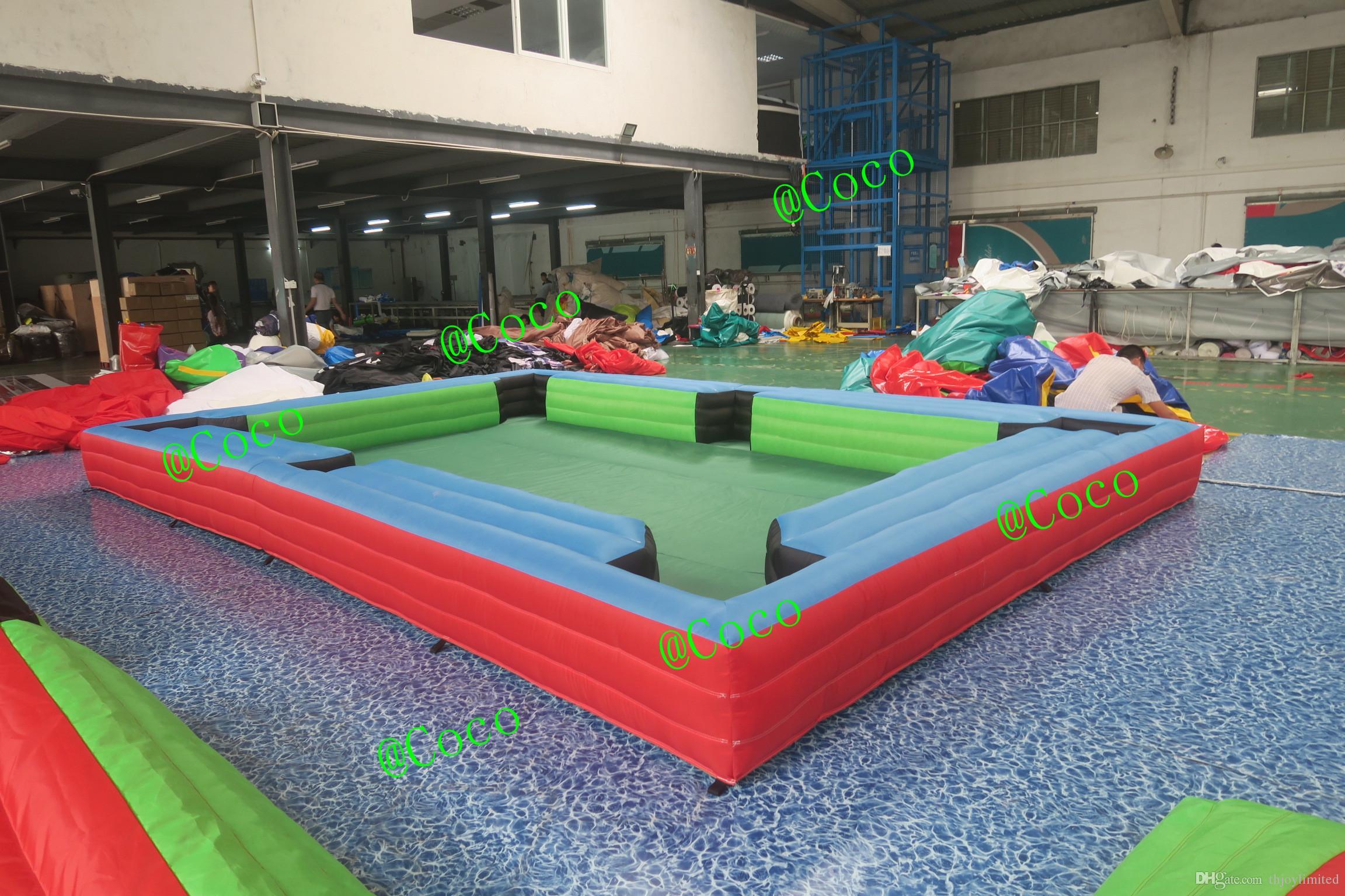 6x4 8x5 12x6m Mesa de Sinuca Inflável Snooker Quadra de Bilhar 16 Pcs Bolas Para O Jogo
