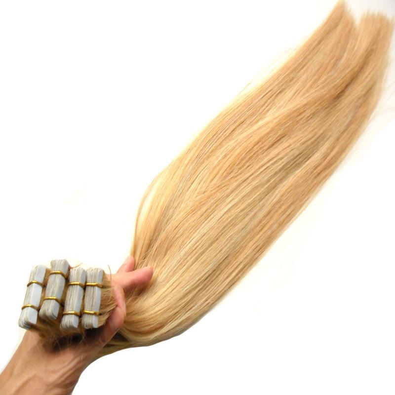 Remy cabelo 2.5g por peça 200g 100% real remy extensão de cabelo humano 80pcs platinum fita loira na extensão do cabelo