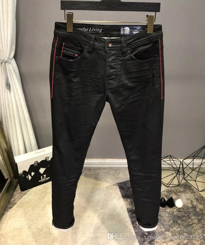 HOT New Style Diesel famosa marca Men é lavado Designer Jeans manta Magro Verão Light Weight estiramento Denim Jeans Skinny Size 6507