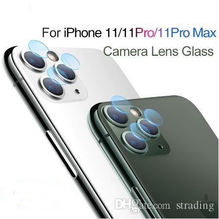 Para iPhone 11 Pro Max XR XS X 6 7 8 mais a tela traseira lente da câmera Protector 2.5D temperado Filme vidro de proteção caixas de varejo