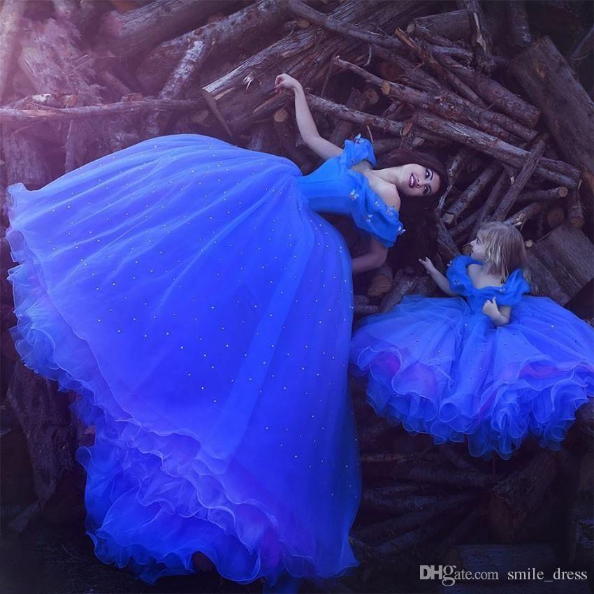 Cinderella Navy Blue Abendkleider aus der Schulter Perlen Schmetterling Organza lange Ballkleid Abend Party Kleider
