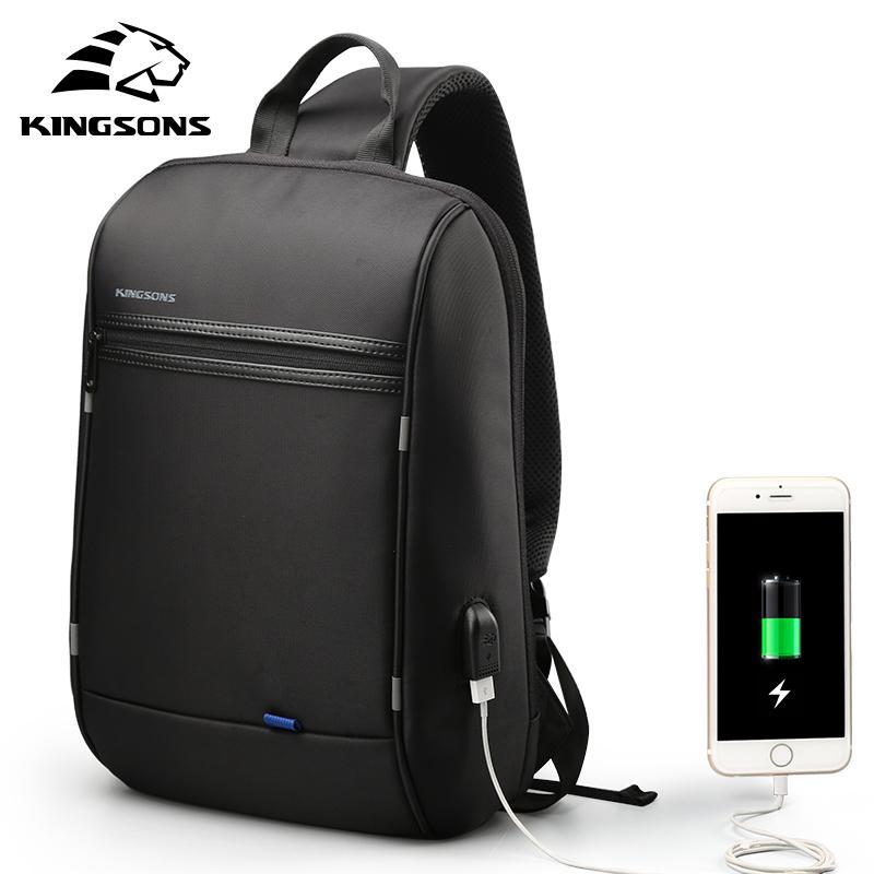 Kingsons Single Shoulder Backpack Men Small Backpack Waterproof Laptop Backpack 13/13.3 inch Mini School Bags for Teenage BoysMX190903