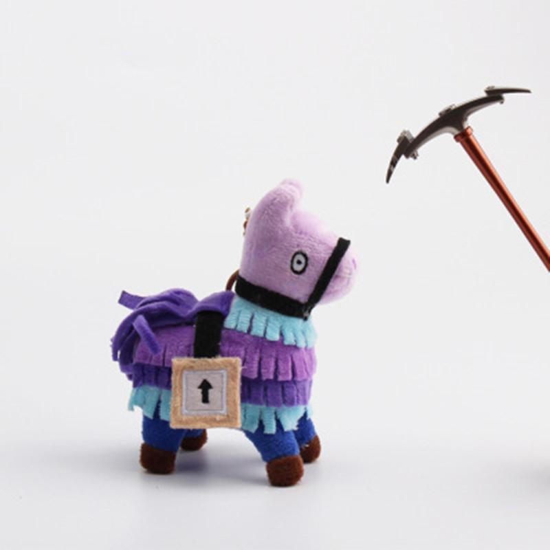 10CM Chaveiro Plush Dolls Stash Llama Figura jogo macio animal cavalo Stuffed Brinquedos dos desenhos animados Action Figure brinquedos ao ar livre ACCS presente Pendant