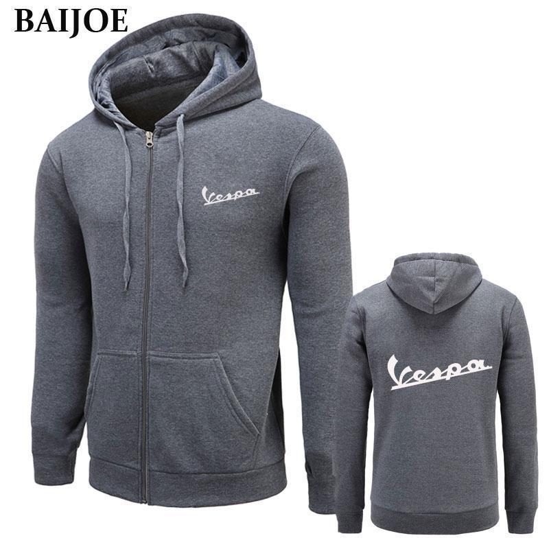 New Herbst und Winter Marke Sweatshirt Männer Vespa Hoodies Männer Hip Hop-Qualitäts-Sportbekleidung Hoody