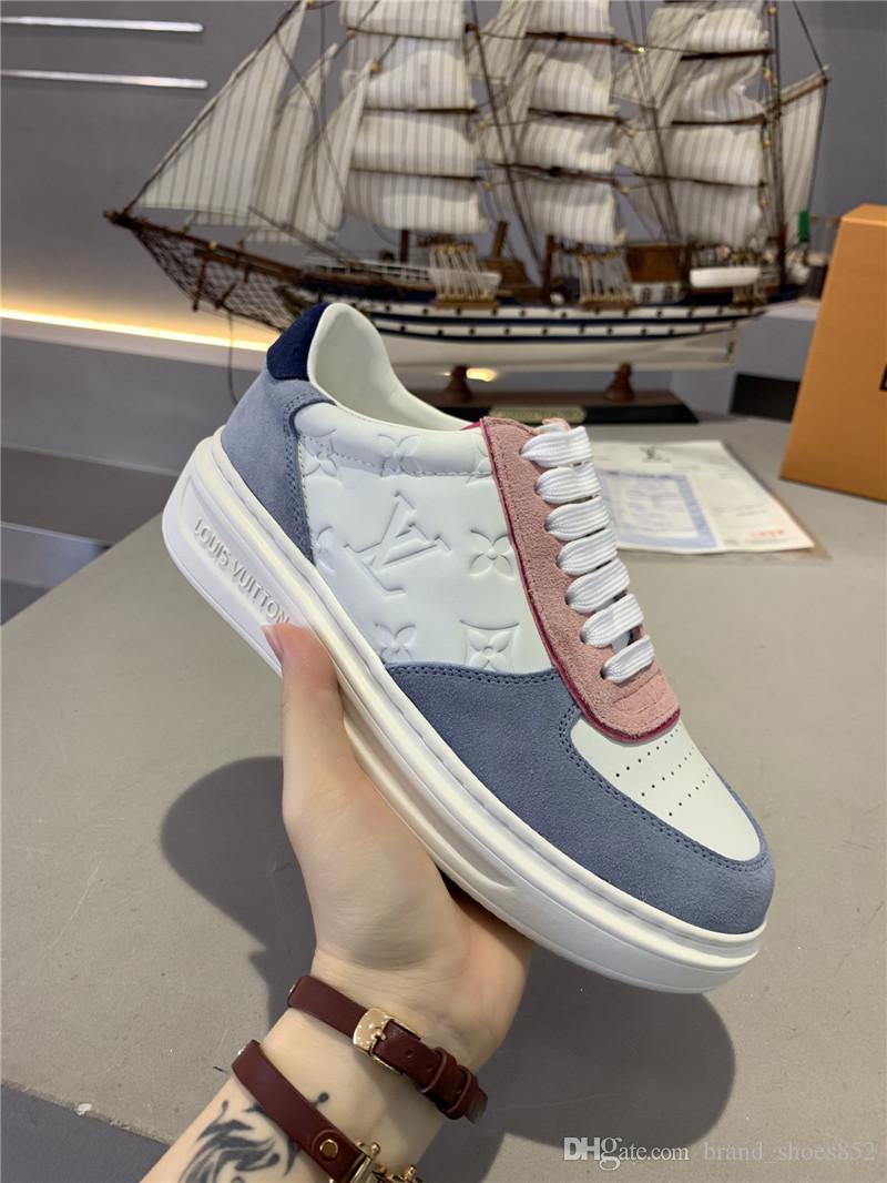 informal calzado deportivo zapatos de cuero de los modelos de pareja, zapatos planos salvajes de moda, caja 2020 nueva G6B de las mujeres de alta calidad Número 35-45