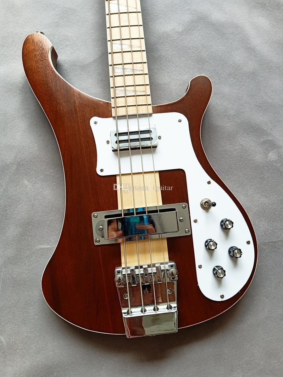 NUOVO 4 corde dei bassi 4003W Naturale Noce corpo ric 4003 Basso collo della chitarra elettrica Thru Body One PC collo corpo