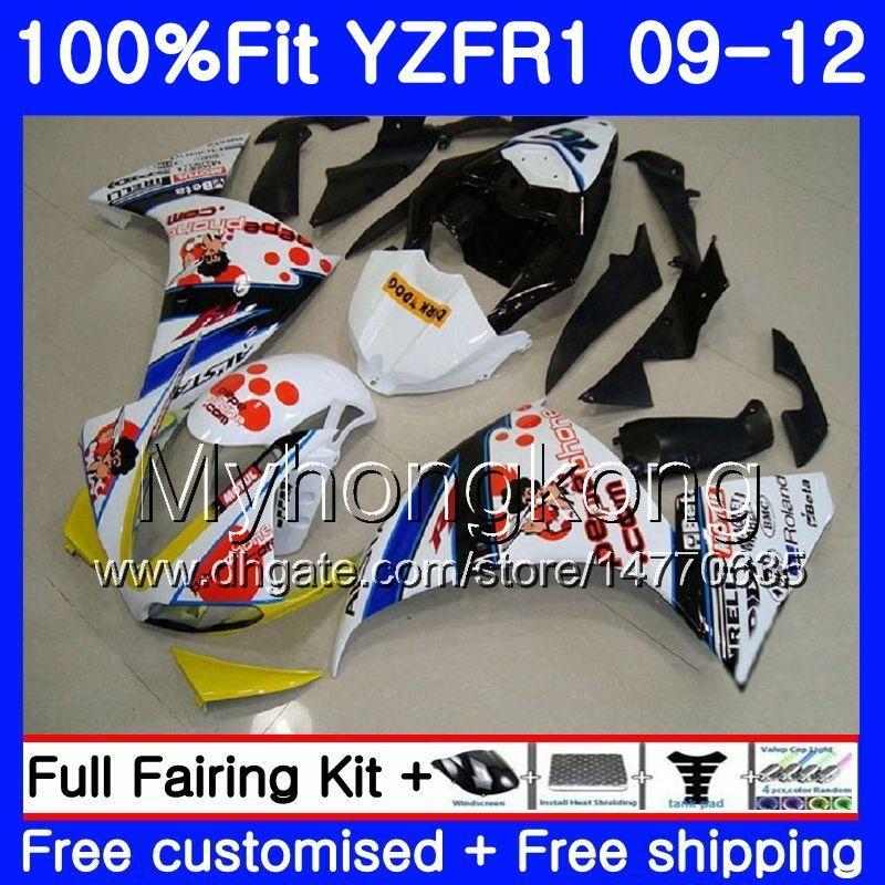YAMAHA YZF 1000 R 1 Pepephone 재고품 YZF R1 2009 2010 2011 2012 241HM.36 YZF-1000 YZF-R1 YZF1000 YZFR1 09 10 11 12 페어링 키트
