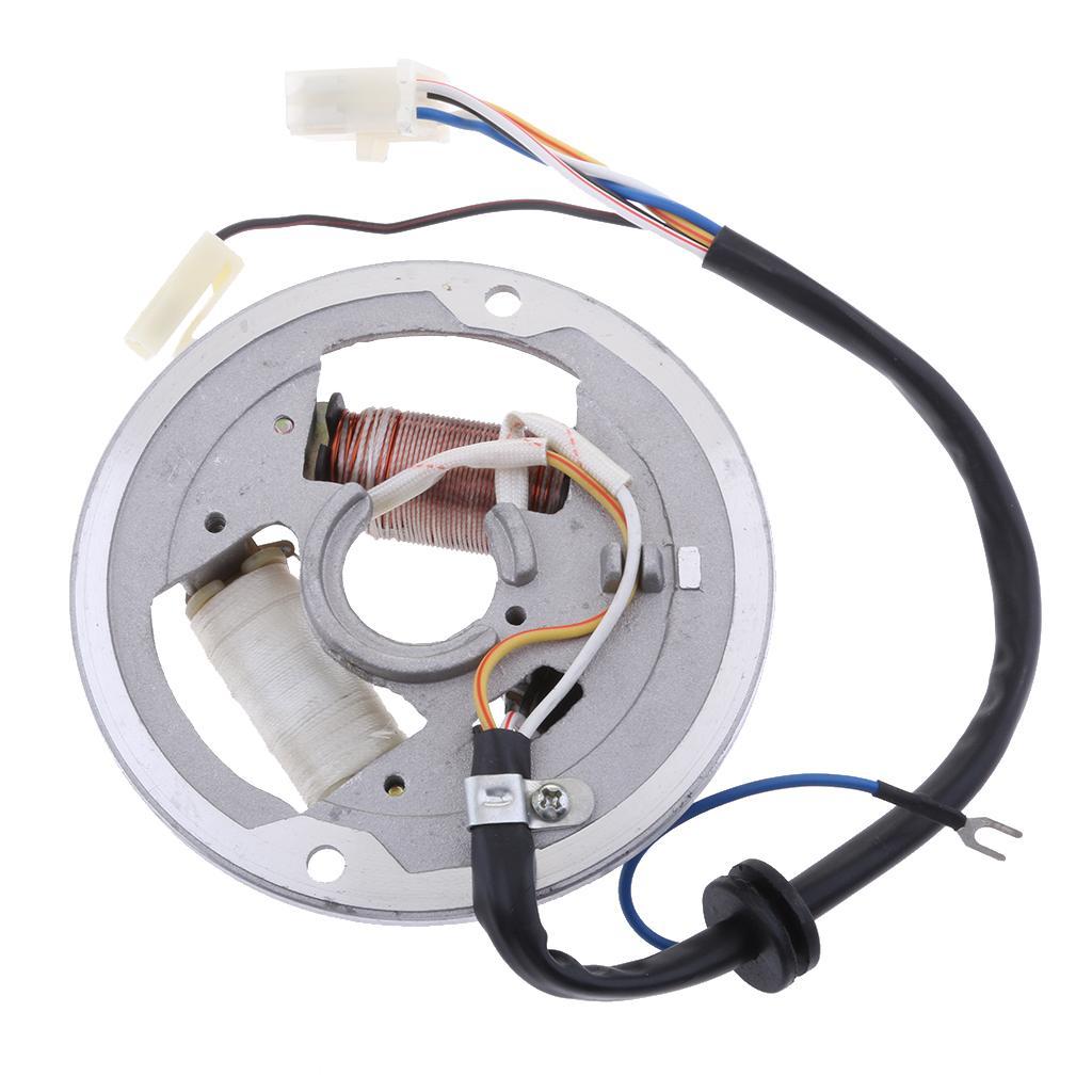 2-bobina de ignição por magneto bobina do estator Placa Para Yamaha PW80 PW 80 PEEWEE 80