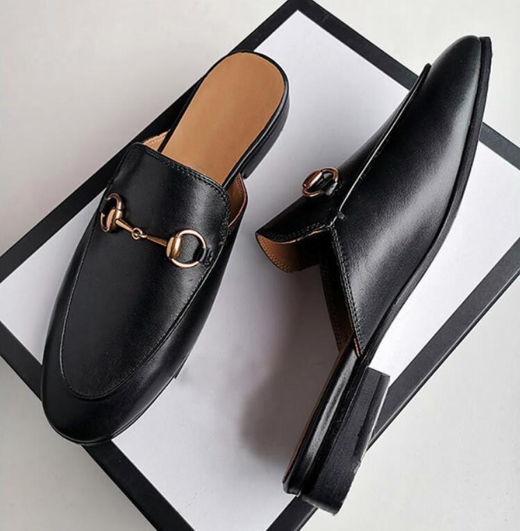 Étoiles luxe chaussures de sport Chaussures femme glisse concepteur, Smoking Slipper, pantoufles étoile en cuir, diapositives design luxe design marque G7.27