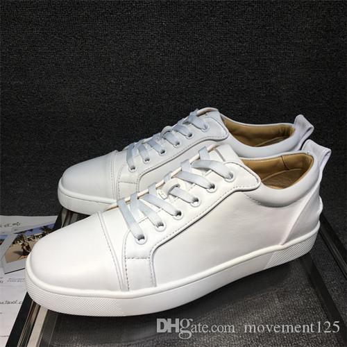 Top qualité bas rouge Sneakers chaussures hommes Spikes Ac junior hommes femmes bas top formateurs femmes Casual chaussures plates de marche 35-46
