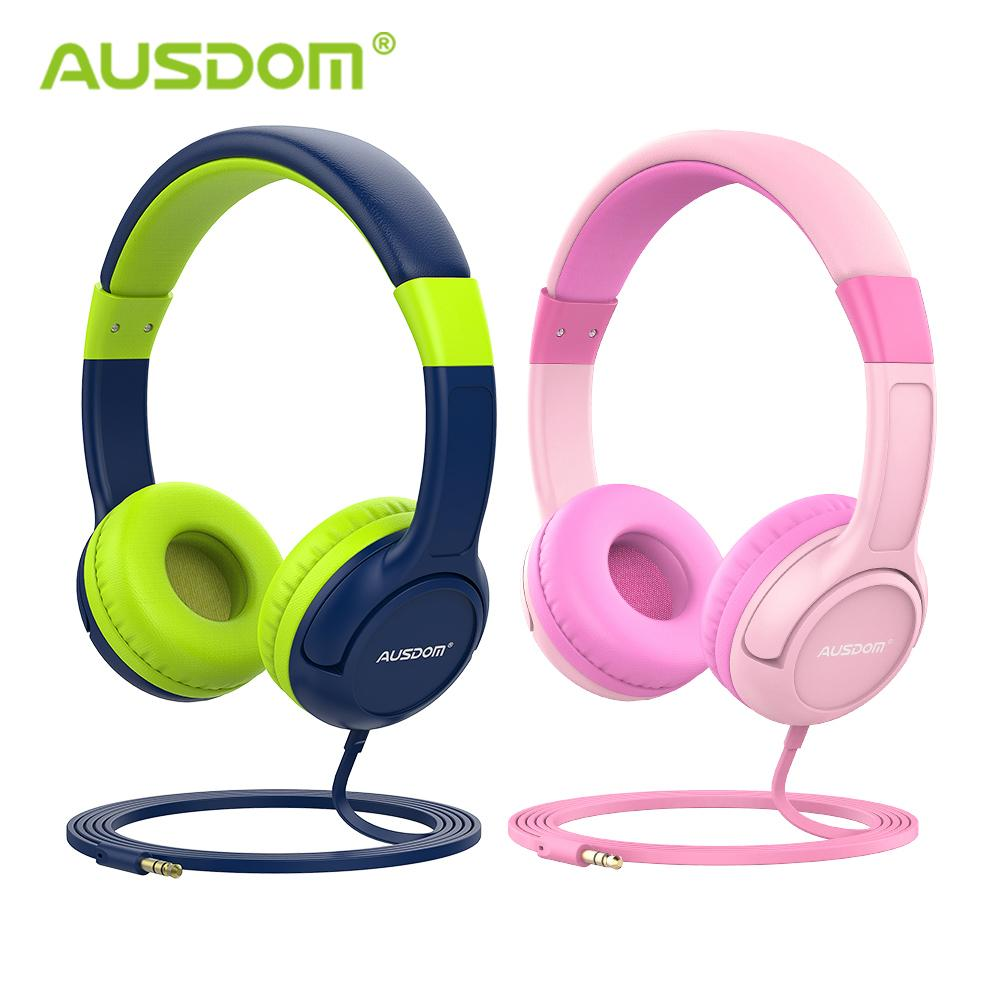 Ausdom K1 Kids Headphones 85db Child Safe Volume Hearing Protection Soft Earmuffs Over Ear Gift For Kids Girl Boy Wired Headset Best Earbuds Bluetooth Best Phone Earbuds From Wei4134 86 57 Dhgate Com