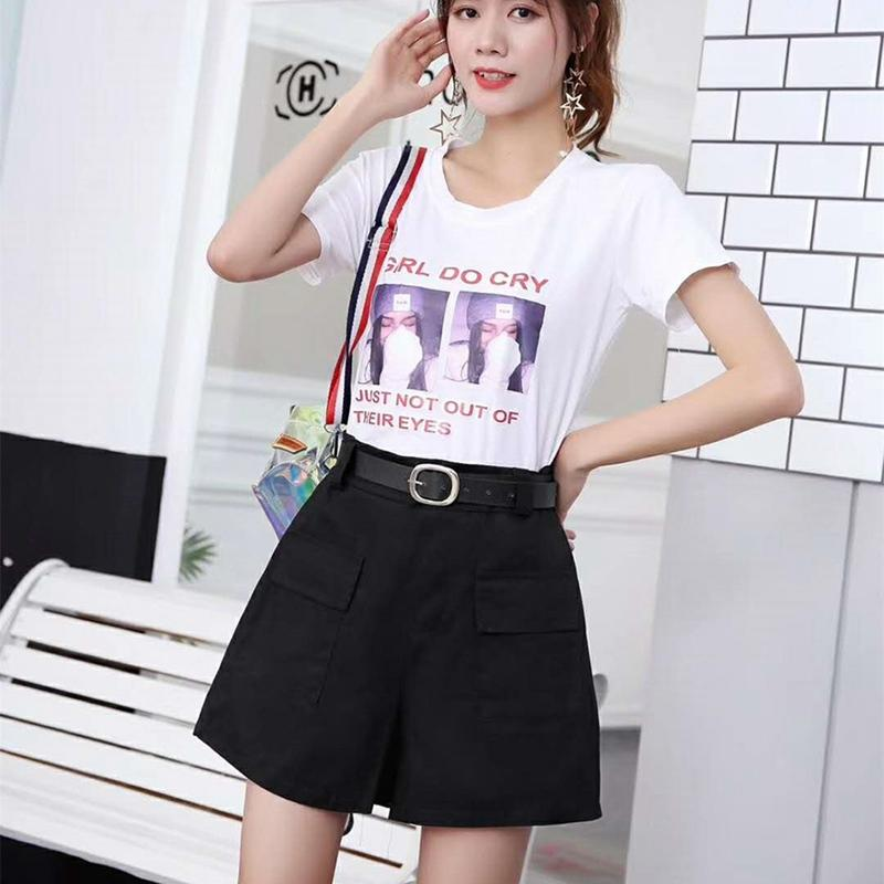Stretch mit hoher Taille Shorts Sommer Tooling Wide Leg Shorts Retro Sexy Cotton Street