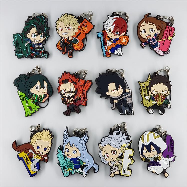 My Hero Academia Anime Hero Suit Rubber Strap Charm Keychain