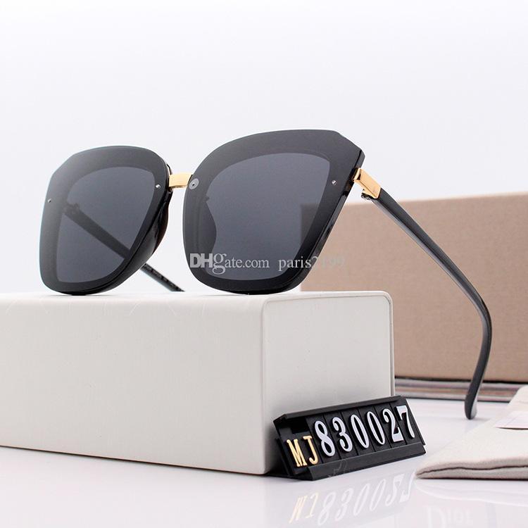여자 패션 Adumbral 안경 UV400 모델 색상 높은 품질의 패션 선글라스 명품 유리 선글라스 편광