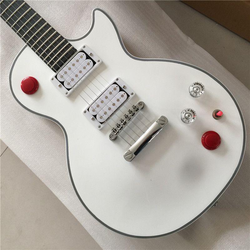جديد مخصص متجر القتل التبديل buckethead نمط الغيتار 24 الحنق الغيتار الكهربائي، جبال الألب الأبيض غيتار، غيتار كهربائي أبيض