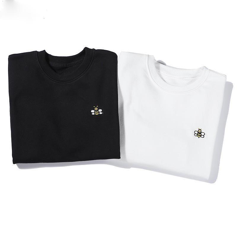 Design-Sweatshirts Langarm-T-Shirts Männer weiß schwarz Hoodies Art und Weise Marke Top Herbst Frühling Frauen Luxus-Kleidung Unisex-Pullover