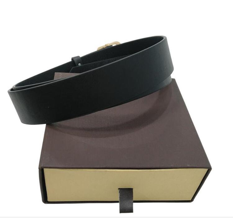 2021 Moda Big Buckle Cinto de Couro Genuíno com Caixa Designer Luxo Homens Mulheres Alta Qualidade Mens Cintos