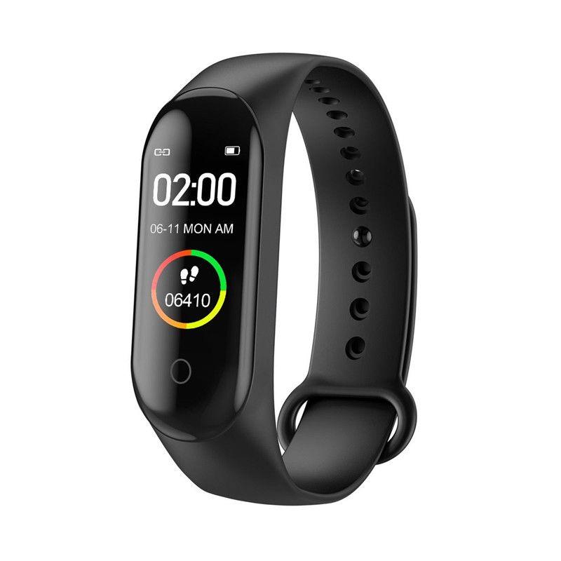 Inteligente reloj pulsera inteligente M4 rastreador de ejercicios Fitbit estilo del deporte de 0,96 pulgadas IP67 a prueba de agua de la presión arterial del ritmo cardíaco