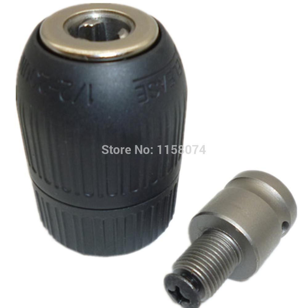 """2-13mm Keyless Drill Chuck Adapter Tool 1//2/""""-20UNF For Impact Wrench Conversion"""