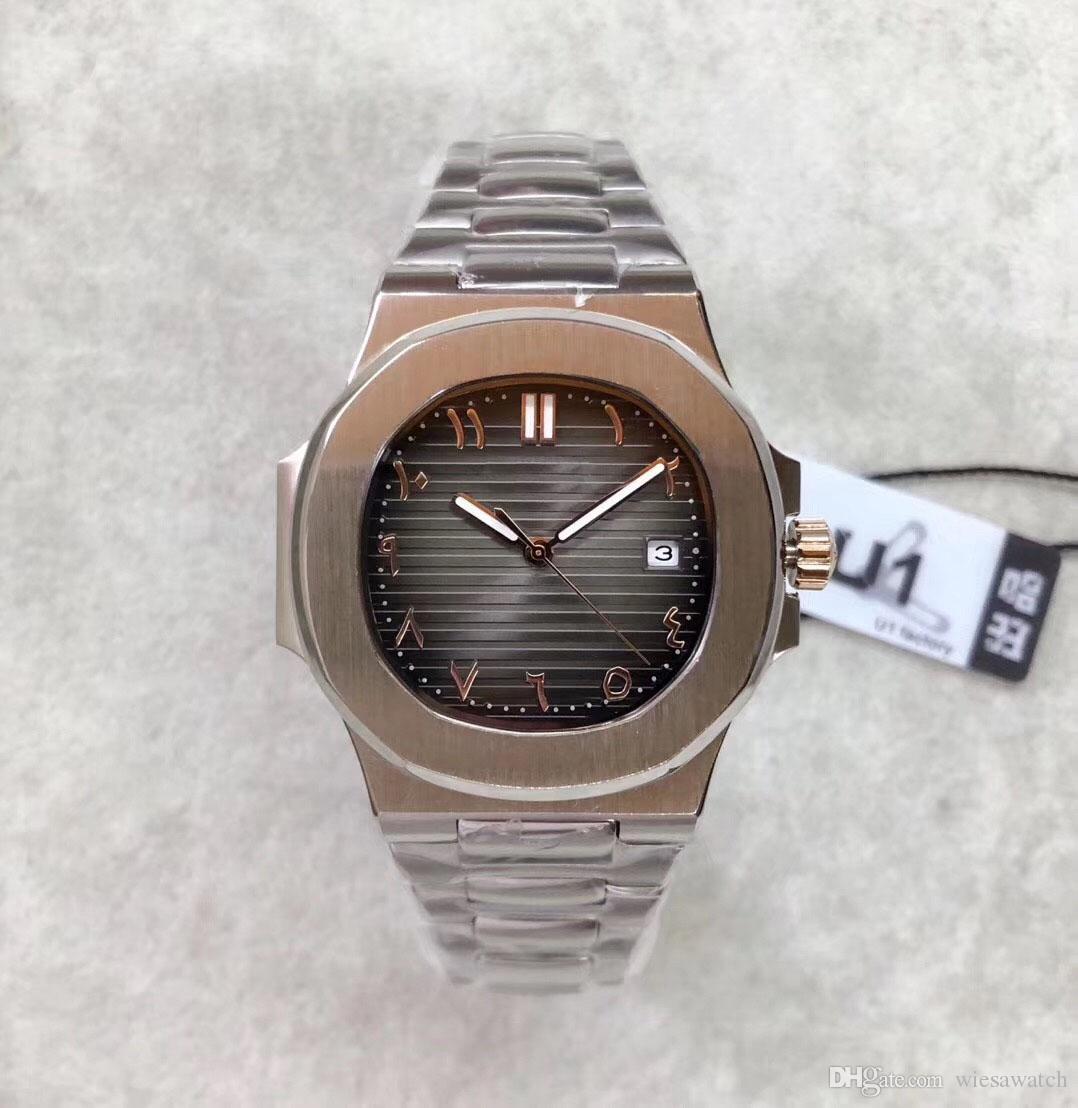 U1 fábrica 41mm movimento automático mens relógios de alto grau relógios relógios relógios de pulso de aço inoxidável banda de aço inoxidável transparente
