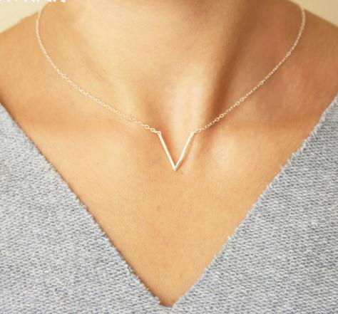 Simple Letter shape Choker Necklace vintage Korean Style Hollow Collares 2020 fashion