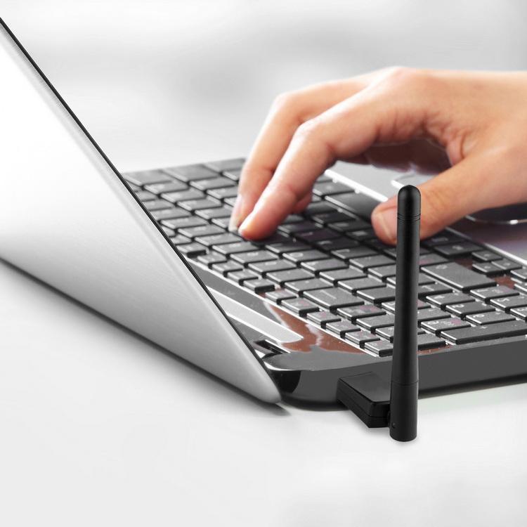 Placa de rede cartão adaptador LAN sem fio 50pcs Mini USB WiFi AC 600Mbps 600M Computador Dual Band 2.4G / 5G