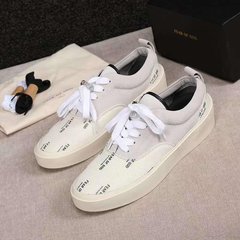Zapatos de Justin Bieber para los hombres miedo de Dios para hombre de los zapatos de cuero ocasionales de la manera las zapatillas de deporte de los hombres de otoño # 7 20 / 20D50