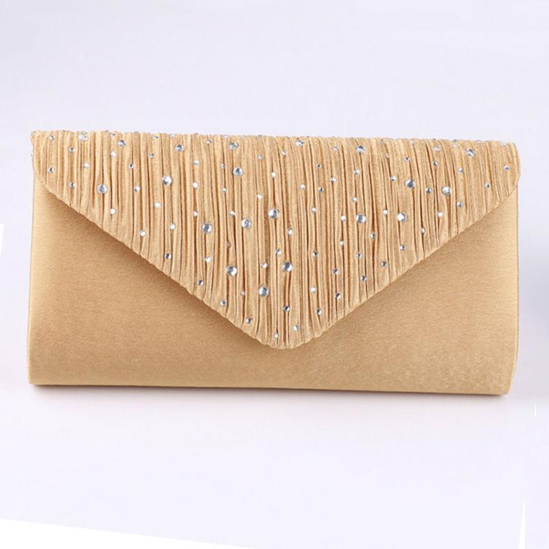 Women Clutch 2019 Diamante Ladies' Evening Purse Vintage Chain Wallet Party Envelope Phone Handbag Clutch Purse