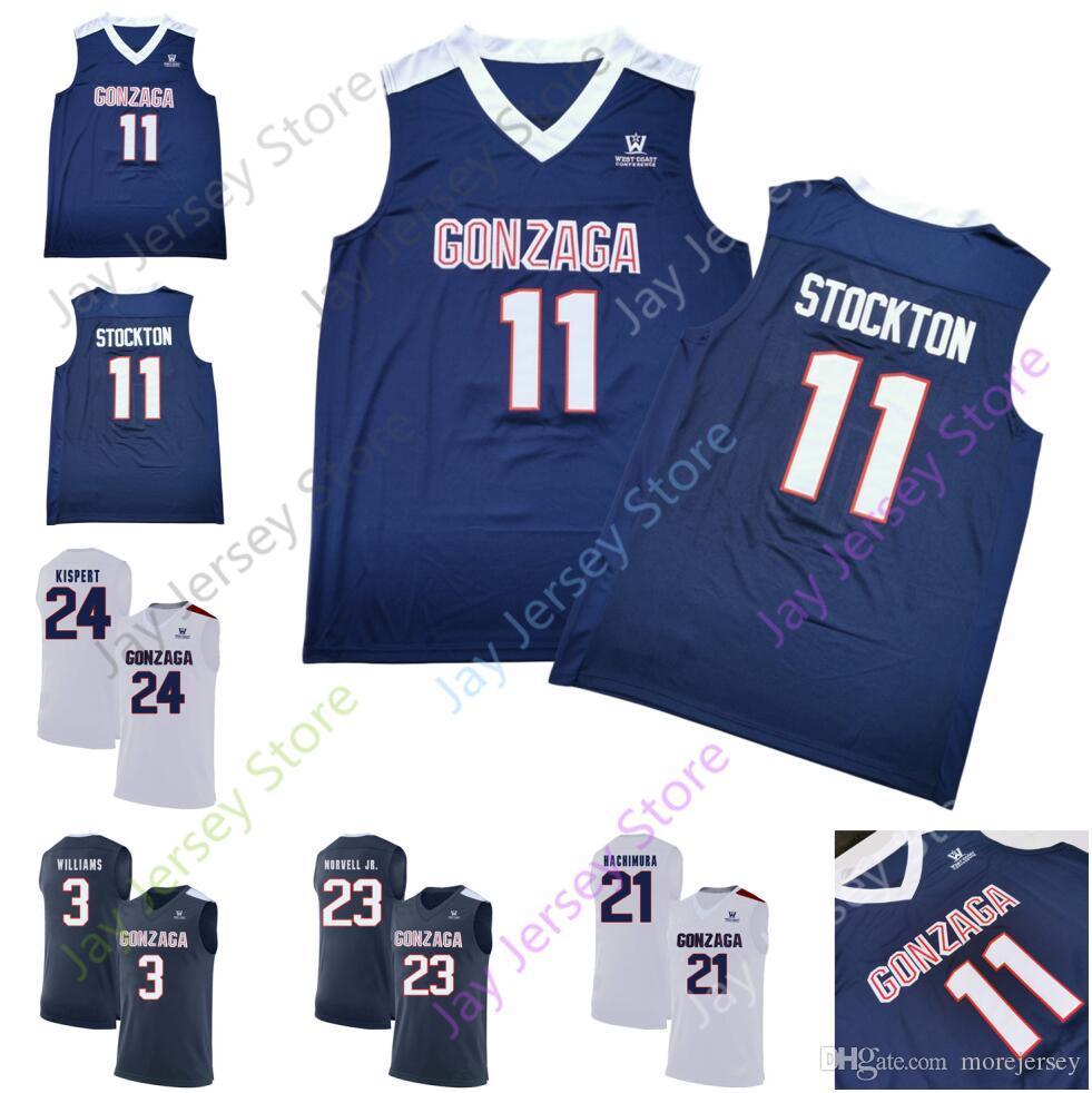 Gonzague personnalisé Basketball Jersey College 11 Domas Sabonis 21 Rui Hachimura 15 Brandon Clarke 23 Zach Norvell Jr. 13 Josh Perkins