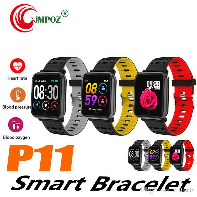 1 ADET Akıllı Bilezik Spor Izci Kalp Hızı Kan Basıncı spor bant akıllı bileklik Bluetooth IP67 Spor Bilezik